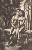 Gravure ancienne - Erotica - Curiosa - Gravure érotique - Paradis Terrestre 4/7