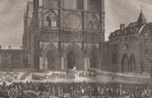French Revolution - Favras Punishment - Cath�drale Notre Dame de Paris (1789)
