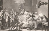 French Revolution - The elder Loiserolles giving himself up for arrest in place of son (1794)