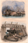 Shipwreck in a Port - Boat - Sailboat - Vassel - French Ships - Carronade 12