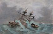 Rainstorm - Shipwreck of a Boat - St Valentin - Camaret (Brittany - France)