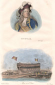 Launching of a ship - Naval ceremony - Portrait of Tourville (1642-1701) - French naval commander