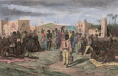 Print of Sale of Blacks - Slavery - Slave trade in Africa
