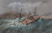 Shipwreck of the Amphytrite at Boulogne-sur-Mer (1833)