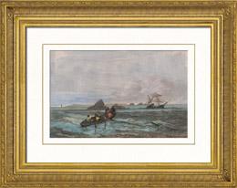 Rainstorm - Shipwreck of a Boat off �le-de-Sein (Brittany - France)