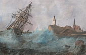 Print of Sailboat - Rainstorm - Shipwreck near of Saint-Nazaire (Loire-Atlantique - France)