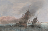Naval Battle - Battle of Tage - Portugal (1831) - Admiral Roussin