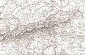Karte von Alpen - Europa