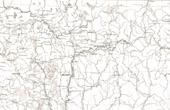Alte Plan von der Straße von Vilnius bis zu Moskau