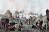 Lager zu Nogais - Mongolen - Kaukasien