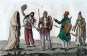 Traditionelle Kleidung in Kaukasien