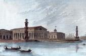 View of Saint Petersburg - Strelka - Birzhevaya Ploschad - Stock Exchange (Russia)