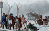 Ice Skaters and Sledge (Russia)