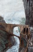 View of the Schöllenen Gorge - Teufelsbrücke - Devil's Bridge - Canton of Uri (Switzerland)
