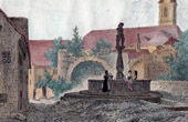 View of Altdorf - William Tell's Fountain  - Canton of Uri (Switzerland)
