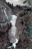 View of Handeck - Waterfall - Guttannen - Canton of Berne (Switzerland)