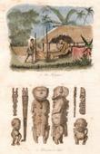Stich von Polynesische Mythologie - Toupapau - Göttlichkeit von Tahiti