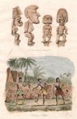 Stich von Pazifik Inseln - Göttlichkeiten für Hawaii - Tänzeren für Hawaii