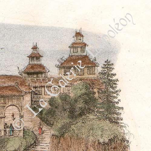 Gravures anciennes japon palais onnay ch teau fort de firandeau gravure en taille - Certificat d heredite avec porte fort ...