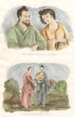 Japan - China - Korea - Komi Chief of Liou Tcheou and his Wife - Priest and Chief of Liou Tcheou