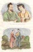 Japan - China - Korea - Komi Chief of Liou Tcheou and his Wife - Priest and Chief of Liou Tcheou