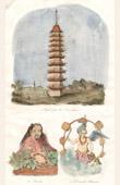 Japan - China - Korea - Pagoda near Liou Tcheou - Fou Hi - Chinese Divinity
