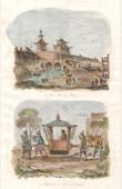 China - Gate of Beijing - Mandarin in a Sedan chair