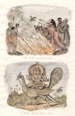 Inde - Veuve Hindoue se jetant dans le b�cher - Karticeya Dieu des Arm�es C�lestes