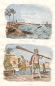 India - Invasion in Madras - Bargeman Paria