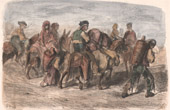 Andalusian peasants going to the Seville Fair (Spain)