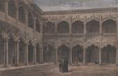Patio of the palace of Infantado in Guadalajara (Spain)