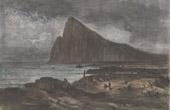 Felsen von Gibraltar - Westseite von Gibraltar - Iberische Halbinsel
