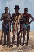 Stich von Trachten - Traditionen - Felupes Ethnische Gruppe - Diola - Senegal - Guinea-Bissau - Westafrika