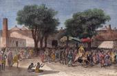 Antik etsning - Palais du Sultan de Massenia - Palats - Sultan (Tchad  - Centralafrika)