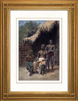 Dräkter - Traditioner - Kung av Assinie (Elfenbenskusten - Västafrika)