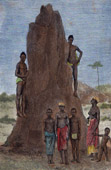 Antique print - Costumes - Traditions - Ethnic group - Boujago - Termites (Portuguese Guinea)