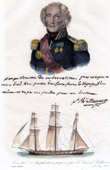 Portrait of Jean-Baptiste Philibert Willaumez - Admiral of the First French Empire - Amphisdrome Corvette