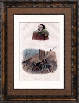 Portr�t von Hippolyte Magloire Bisson (1796-1827) - Marineoffizier - Enterung von Panayotti in Griechenland