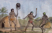 Munduruku avec une T�te de Botocoudo - Indiens (Br�sil)