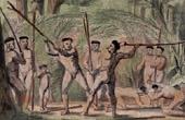 Combat Singulier de Botocudos - Indiens (Br�sil)