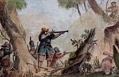 Soldats Indiens Combattant les Botocudos (Br�sil)