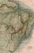 Stich von Karte von Brasilien
