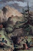 Stich von Ruhe von Reisende - Alpen - Europa