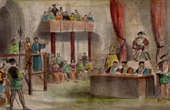 Henry VIII of England in Westminster - John Lambert's Trial (1538)