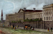 View of London - Asylum - St Lukes Hospital for Lunatics (England)