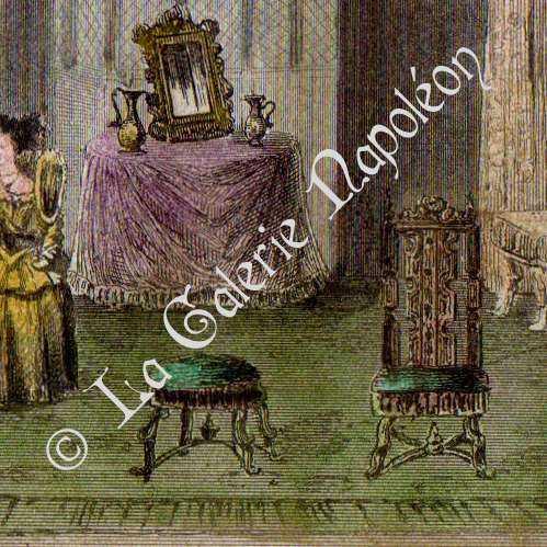 alte stiche englische m bel 16 jahrhundert xvi jahrhundert stahlstich 1842. Black Bedroom Furniture Sets. Home Design Ideas