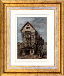 Gravures anciennes gravure de architecture anglaise for Architecture anglaise