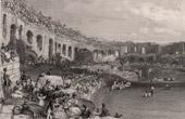 View of  Nîmes - Roman amphitheatre - Languedoc-Roussillon (Gard - France)