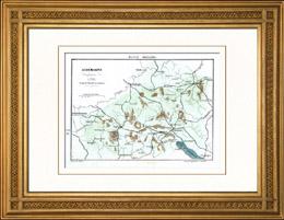 Karte - Schlachtfeld bei Stokach - Deutschland - 1800