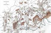 Antique map - Battlefield of Fleurus - Belgium - 1794